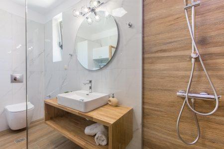 Bathroom Mirror and shower